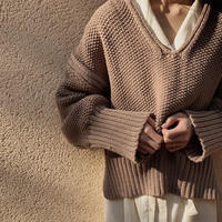 popcorn knit (beige)