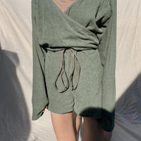 all in one relax pajama / green