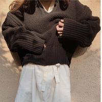 popcorn knit (black)