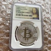 【NGC鑑定・PF68】ビットコイン チャド共和国 CFAフラン 1オンス 銀貨 プルーフ版 クリプト シルバーコイン 仮想通貨 暗号通貨 Bitcoin