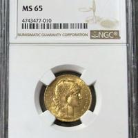 【NGC MS65】フランス 1912年 20フラン ルースター金貨 コイン ゴールド 聖マリアンヌ 1912 FRANCE G20F