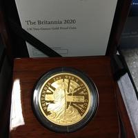 【2オンス金貨】2020年 ブリタニアコイン プルーフ ゴールド 英国 イギリス ロイヤルミント BRITANNIA  2oz GOLD PROOF COIN Royal Mint
