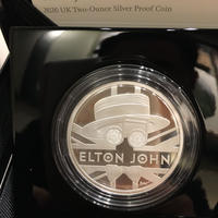 エルトンジョン 2オンス 5ポンド銀貨 プルーフコイン シルバー 2020年 英国 イギリス ロイヤルミント elton john royal mint