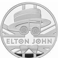 ロイヤルミント エルトンジョン 5オンス 10ポンド銀貨 プルーフコイン シルバー 2020年 英国 イギリス elton john royal mint