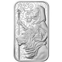 ※アクリルケース付き 【1オンス・シルバーバー】2021 ロイヤルミント ウナとライオン 1oz 銀棒 銀の延べ板  インゴット 英国 イギリス Royal Mint Una Lion
