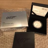 【第2貨・1オンス銀貨】2020年 007 ジェームズ・ボンド 2ポンド銀貨 1オンス プルーフコイン シルバー ロイヤルミント イギリス 英国 箱ケースあり