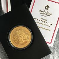 2021年度版 【発行200枚】ウナとライオン 2021 セントヘレナ版 1オンス金貨 ゴールド プルーフコイン Una Lion St.Helena Gold Proof Coin
