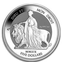 ※鑑定中,11月到着予定 【5オンス】ウナとライオン 2019 イギリス領 ヴァージン諸島 銀貨 5oz 5ドル コイン 英国 BVI シルバー