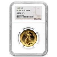 最高鑑定【NGC MS70DPL】2009年 セントゴーデンス ウルトラハイレリーフ金貨 ゴールド ダブルイーグル ディーププルーフライク ULTRA HIGH RELIEF gold coin
