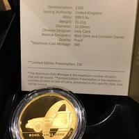 【第1貨・1オンス】 007 ジェームズ・ボンド 100ポンド金貨 プルーフコイン ゴールド 2020年 英国 ロイヤルミント James Bond