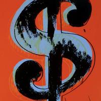【新品】未使用品 COAあり アンディウォーホル ダラーサイン レッド シルクスクリーンプリント サンデーBモーニング版 Andy Warhol Dollar sign