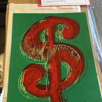 【新品】未使用品 COAあり アンディウォーホル ダラーサイン グリーン シルクスクリーンプリント サンデーBモーニング版 Andy Warhol Dollar sign