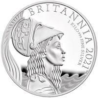 【1kg】2021 プレミアム ブリタニア銀貨 1キログラム プルーフコイン シルバー 英国 イギリス ロイヤルミント Britannia Royal Mint kilo