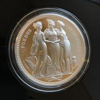 ロイヤルミント版 2020 スリーグレイセス 5オンス 10ポンド銀貨 プルーフコイン エリザベス2世 英国 イギリス  Three Graces Royal Mint