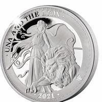 ウナとライオン 2021 セントヘレナ 1オンス銀貨 プルーフコイン Una Lion St.Helena Silver Proof Coin