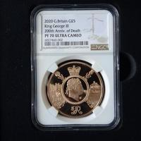 【NGC鑑定PF70UC】英国 2020年 ジョージ3世没後200周年 5ポンド金貨 プルーフコイン ゴールド イギリス ロイヤルミント King George Ⅲ Royal Mint