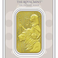 【ゴールドバー】2021 ロイヤルミント ウナとライオン 1オンス 金の延べ板  英国 イギリス Royal Mint Una Lion