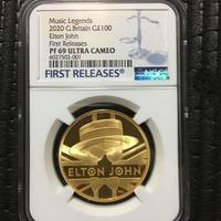 【NGC PF69UC】エルトン・ジョン 1オンス金貨 100ポンド プルーフコイン ゴールド 2020年 英国 ロイヤルミント ELTON JOHN