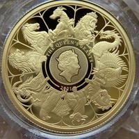 2021 クイーンズビースト コンプリート・最終版 1オンス 100ポンド金貨 ゴールド プルーフコイン QUEEN'S BEASTS COMPLETER 1oz Gold