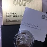 【第3貨・2オンス銀貨】007 ジェームズ・ボンド 5ポンド銀貨 プルーフコイン 英国 イギリス ロイヤルミント シルバー 箱ケースあり Royal Mint James Bond