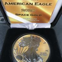 【新品】2020 アメリカイーグル リバティ スペースゴールド版 Space Gold Edition 銀貨 コイン シルバー 発行枚数500枚