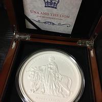 【99枚限定】マット仕様 ウナとライオン 2019 オルダニー島 1kg 1キログラム銀貨 プルーフコイン 艶消し