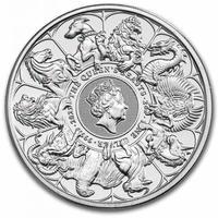 BU版 コンプリーター・最終版 2021 クイーンズビースト 2オンス銀貨 シルバーコイン QUEEN'S BEASTS COMPLETER 2oz Silver coin BU