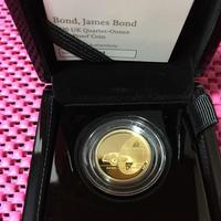 【第1貨】1/4オンス 007 ジェームズ・ボンド 25ポンド金貨 プルーフコイン ゴールド 2020年 英国 ロイヤルミント