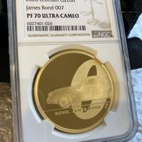 【NGC鑑定 PF70UC】第1貨2オンス金貨 ロイヤルミント 007 ジェームズ・ボンド 200ポンド金貨 プルーフコイン ゴールド 英国