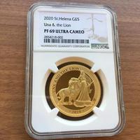 【NGC・PF69UC】発行枚数200枚 ウナとライオン 2020 セントヘレナ版 1オンス金貨 ゴールド プルーフコイン Una Lion St.Helena Gold Proof Coin