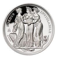 【セントヘレナ版】スリーグレイセス 2021年 2オンス銀貨 シルバー プルーフコイン Three Graces St.Helena Silver Proof Coin 2oz