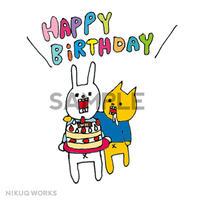 """[u_005]ウサギのウー DLデータ """"HAPPY BIRTHDAY""""【1】"""