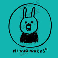 "[ud_004] DLデータ PC用壁紙 ""UH THE RABBIT"" 【nigaoe_green】"