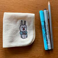 u_R0204【受注生産】ウサギのウーのハンカチタオル