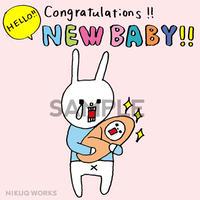 """[u_007] ウサギのウー DLデータ """"HELLO NEW BABY!!"""""""