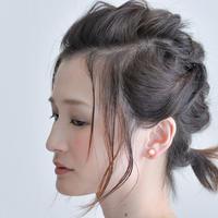 Maru Earring BEIGE マルイヤリング ベージュ