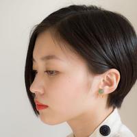 Maru Earring GREEN マルイヤリング グリーン