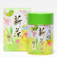 【6月末まで期間限定 新茶】  新茶 特上80g  缶入り