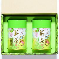 【期間限定 新茶】  新茶特上・新茶 80g  缶入り×2 詰め合わせ