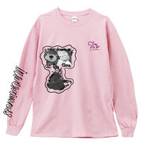 THE_SHINING_BEAR_Long Sleeve Tee / LIGHT PINK