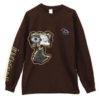 THE_SHINING_BEAR_Long Sleeve Tee /  DARK CHOCOLATE