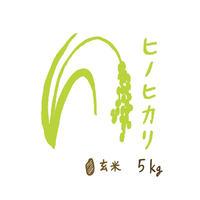 自然栽培米 ヒノヒカリ 玄米5kg 2019年度産