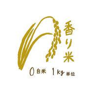 自然栽培 香り米 白米1kg~9kg 2018年度産