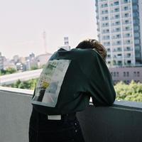 【ight】back print L/S tee