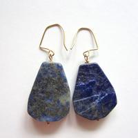 【UE050】Lapis-lazuli Earring14KGF(ラピスラズリ ピアス)