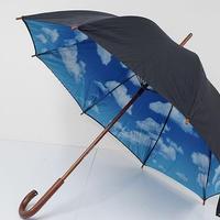 A0714 MoMA モマ 傘 USED美品 スカイアンブレラ NY近代美術館 ティボール・カルマン 青空 中古 ブランド