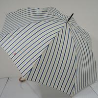 Polo Ralph Lauren ポロ ラルフローレン 高級傘 USED超美品 3トーン ストライプ 60cm  レディース 中古 ブランド S2203