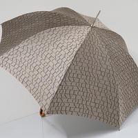 S0123 LANVIN COLLECTION ランバン 耐風傘 USED極美品 ロゴタイポグラフィ 58cm 中古 ブランド