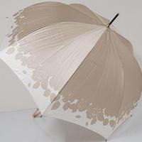 A0711 LANVIN en Bleu ランバン 耐風傘 USED超美品 シルエットローズ バラ 60cm 中古 ブランド