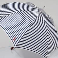 A0500 Ralph Lauren ラルフローレン 高級傘 USED超美品 ボーダー&ポロ 60cm 中古 ブランド